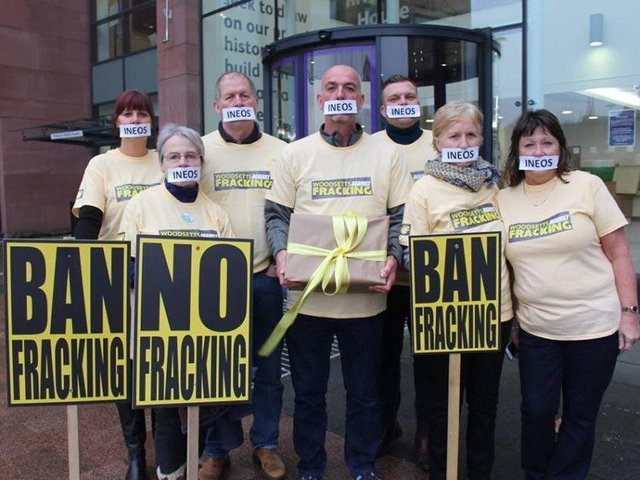 Members of Frack Free South Yorkshire