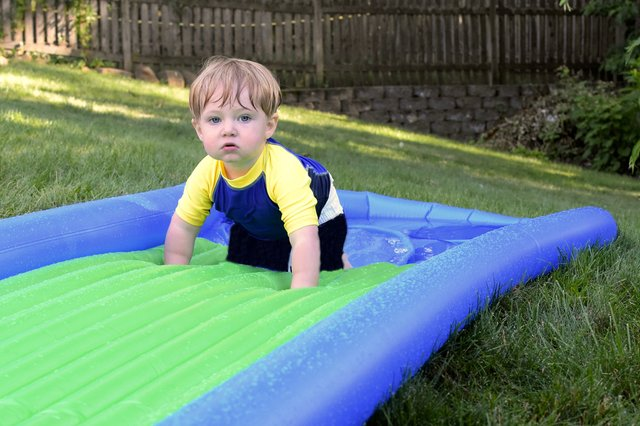 <p>These inflatable water slides are ideal for having fun in the sun this summer </p>