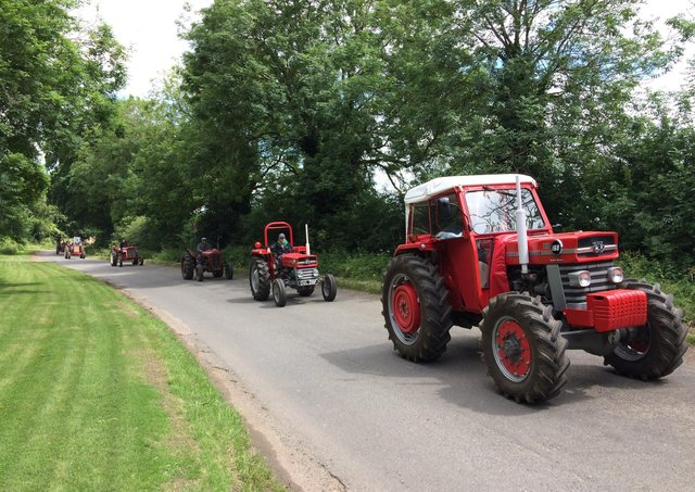 Tractors out and about at a pevious trail event EMN-200629-084420001