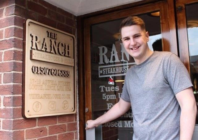 Oliver Crossland outside The Ranch Steakhouse & Grill.