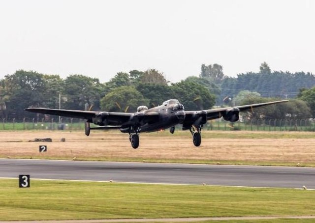 Avro Lancaster PA474 took to the air for the first flight of 2020. Picture: RAF Coningsby. EMN-200107-100902001