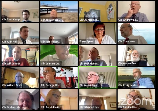 A scene from ELDC's virtual council meeting on Tuesday evening.