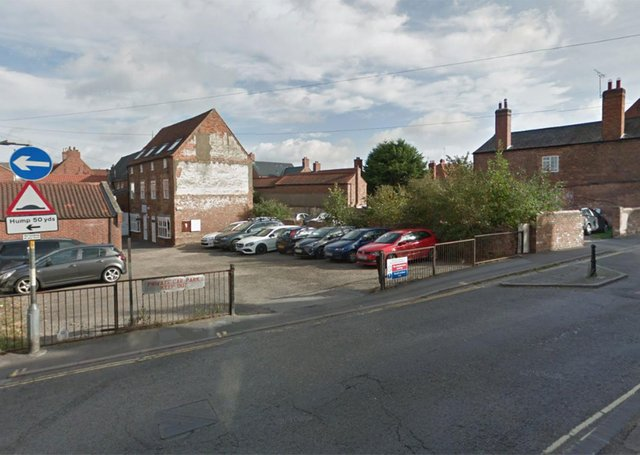 A view of the site that has been approved for development.