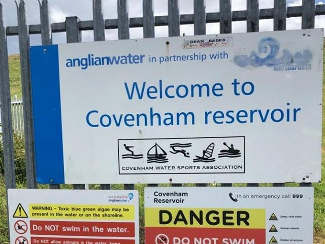 A sign at the entrance of Covenham Reservoir. (Stock image).