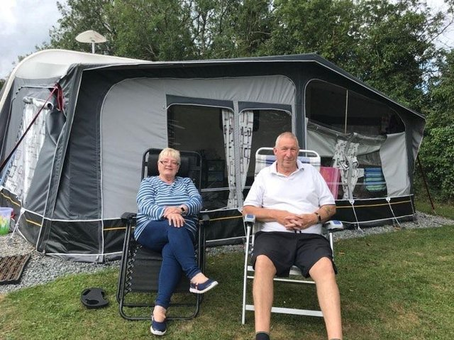 Rose and Dave Gill couldn't wait to get back into their caravan - they arrived at Burgh-le-Marsh at one minute past midnight on Saturday.