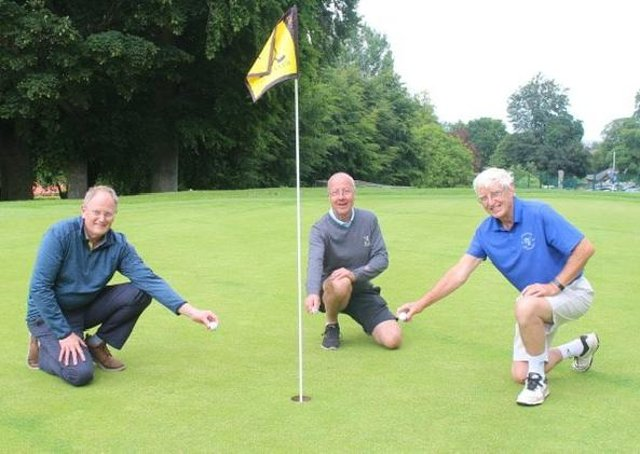 Michael Tonge, Dave Bedlow and captain Mike Tompkinson recorded holes in one at Louth Golf Club.