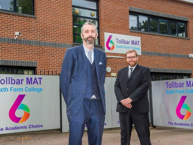 Simon Ritchie (left), who will be the new Head of Tollbar MAT Sixth Form College from September, alongside Darren Green, who will become Deputy Head of Sixth Form.