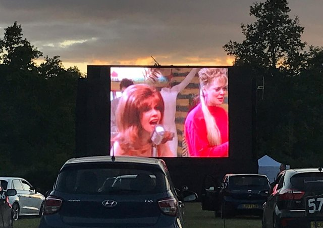 A 'drive-in' movie night elsewhere in the country. (Stock image)