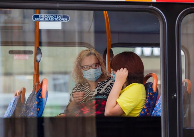 Face coverings are mandatory on buses  although there are reports of many not wearing them. Photo: Leila Coker