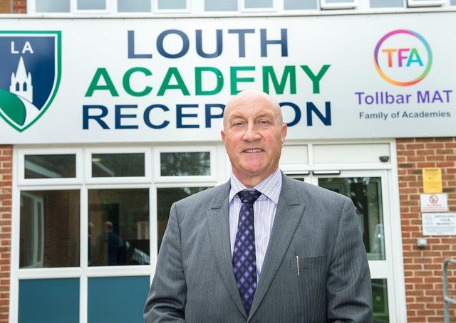 David Hampson (CEO Tollbar MAT) at Louth Academy's Lower Campus. (Picture: Sean Spencer/Hull News & Pictures Ltd)