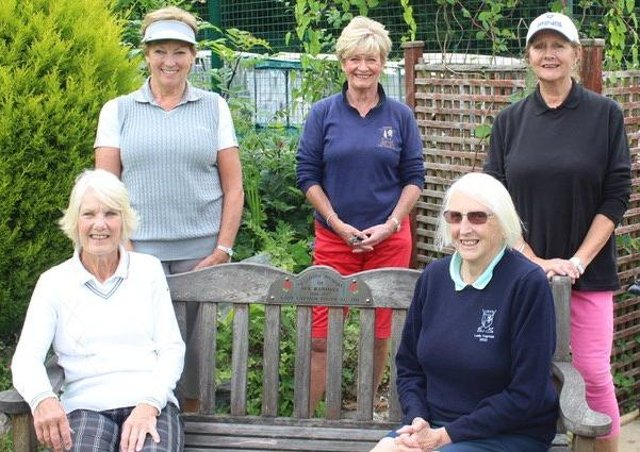 A socially distanced Lady Captain's Day.