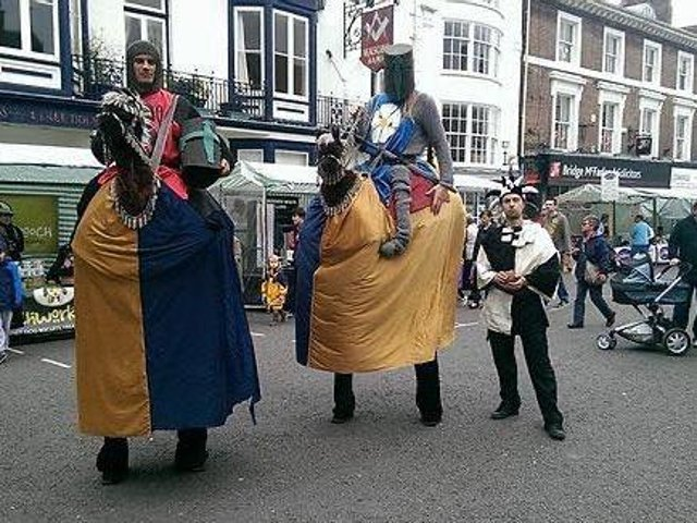 Street entertainers will provide amusement around the town centre.