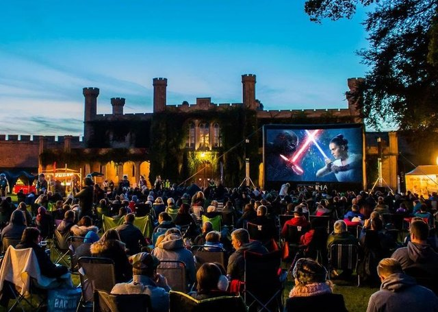 A previous open air cnema at Lincoln Castle - this year's screenings will see groups being socially distanced EMN-200608-175812001