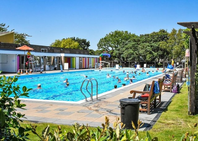 The outdoor pool at Jubilee Park.