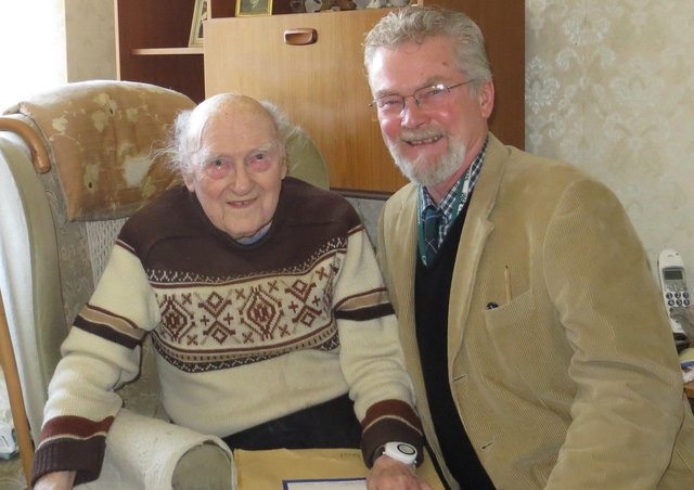 Author Vic Ient with former POW Bill Butler