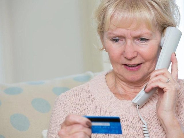 Never give your bank details to a caller.