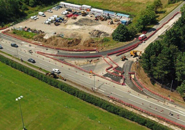 The final phases of work on the A17/A153 Sleaford rugby club junction will involve road closures this month. EMN-200309-124401001