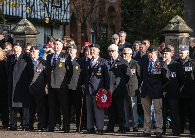 Veterans at the annual Remembrance Service in Sleaford last November. Photo: RAF