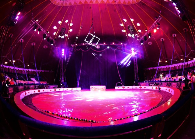 Returning to Sleaford this month, Russells International Circus.