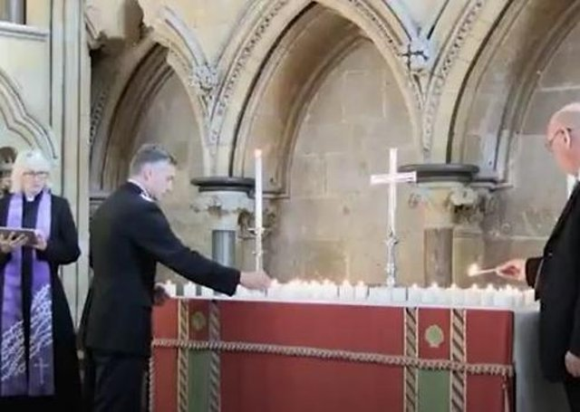 Chief Constable Bill Skelly at the NPMD service in Lincoln Cathedral