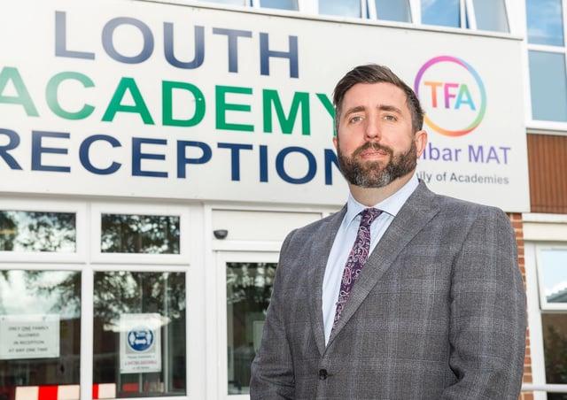 Principal at Louth Academy, Philip Dickinson.