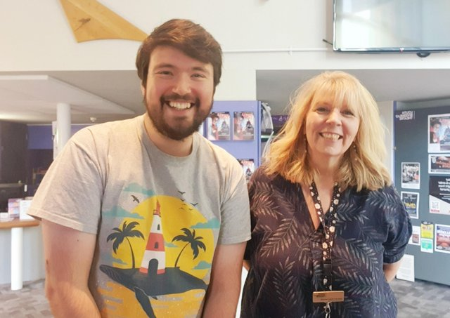 John Hewer pictured with Tracey Mackenzie at Louth Riverhead Theatre.
