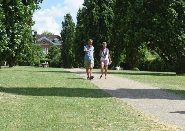 Yes: You can go for a stroll in the outdoors as part of any daily exercise