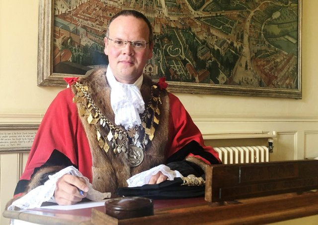 The Mayor of Louth, Councillor Darren Hobson.