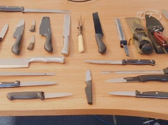 Some of the weapons handed in during the amnesty