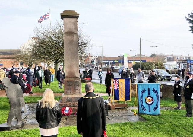 Photographs from Mablethorpe on Remembrance Sunday. (Photo: Mablethorpe Photo Album)