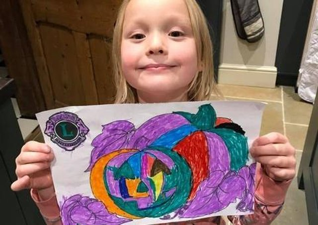 Molly Stead, aged 5, from Louth was the winner of the Halloween colouring competition hosted by the Louth Lions.