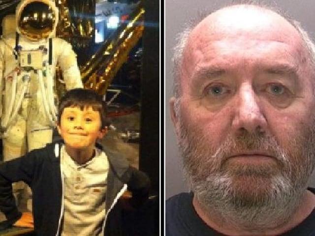 Alex Robinson (left) was murdered by his grandfather Stewart Greene (right).