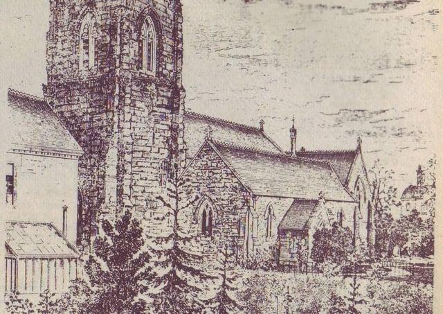 Market Rasen Parish Church at the turn of the 20th century