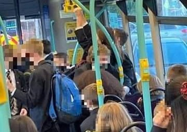 Concerns over crowding on school bus (Photo supplied)