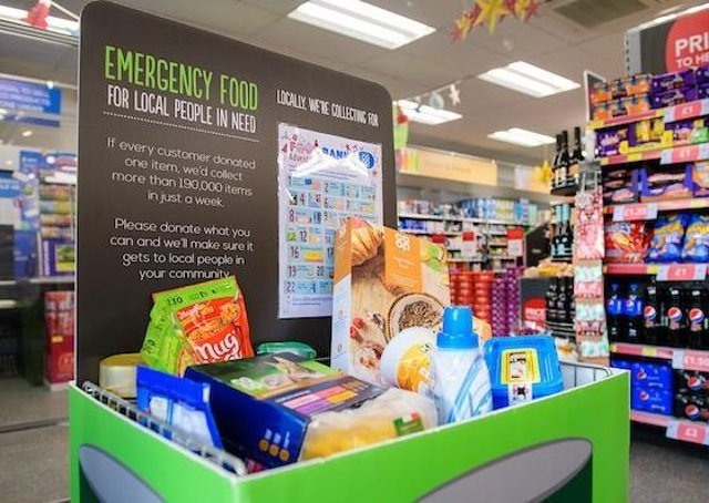 A Lincolnshire Co-op Food Bank Advent Calendar Campaign collection bin in store.Picture: Chris Vaughan Photography EMN-201125-175550001