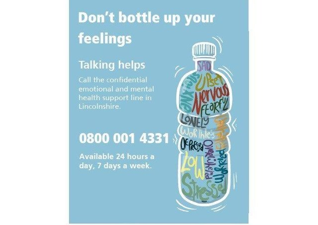 Mental health helpline is available for people in Lincolnshire. EMN-201126-170810001