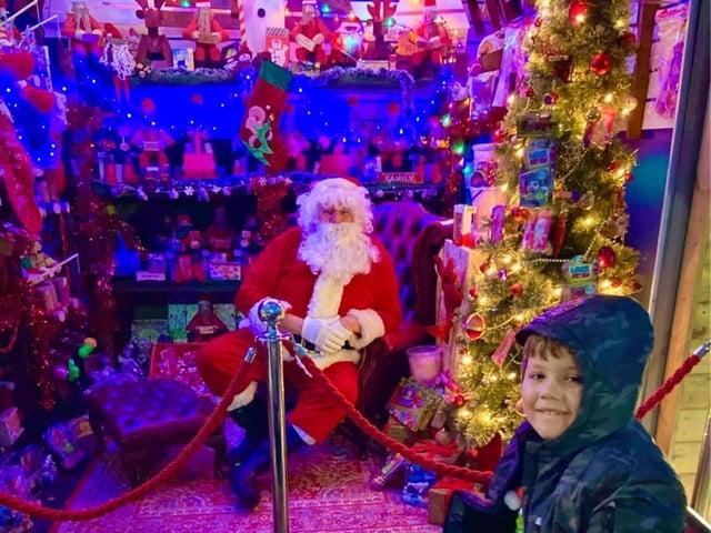 All smiles for Santa at Hardys Market in Ingoldmells.