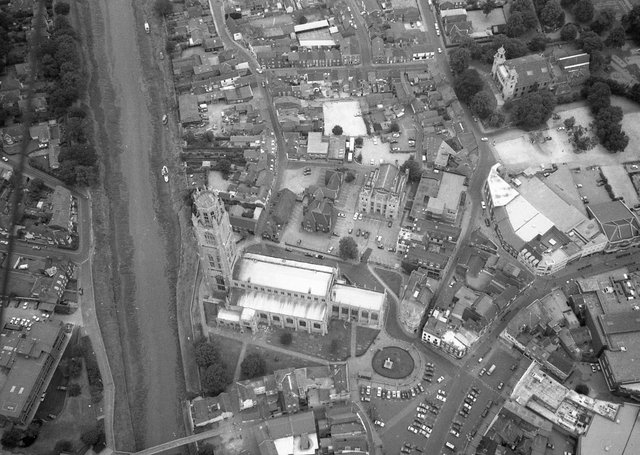 Looking down on Boston town centre as it was 25 years ago.