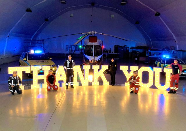 Thank you from the Air Ambulance team