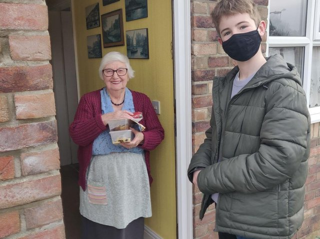 A community group in Hogsthorpe delivered food to 17 addresses where people would be on their own over the festive period. A new fund has been announced to helps groups like this carry on with their good work.