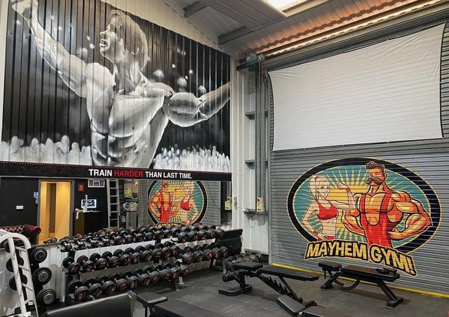 Inside Mayhem Gym.