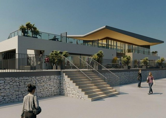 An artist's impression of the Colonnade redevelopment in Sutton on Sea