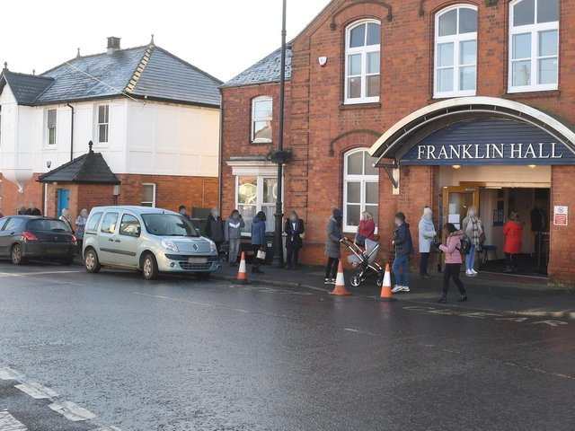 The vaccination rollout at the Franklin Hall in Spilsby.