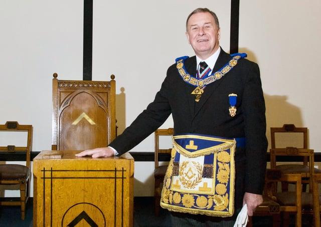 Lincolnshire's Provincial Grand Master Dave Wheeler. EMN-210113-082611001