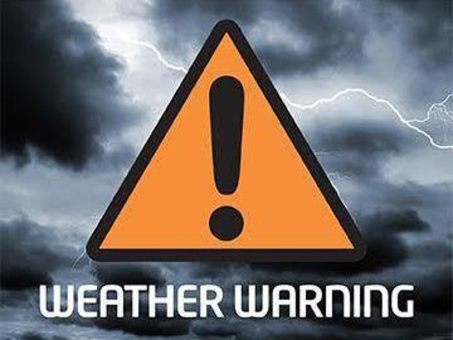Amber and Yellow weather warnings for rain have been issued for the Skegness area.