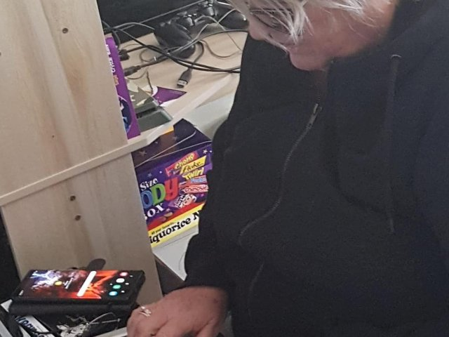Vulnerable residents in Hogsthorpe are staying connected thanks to tablets that are being distributed in the village.