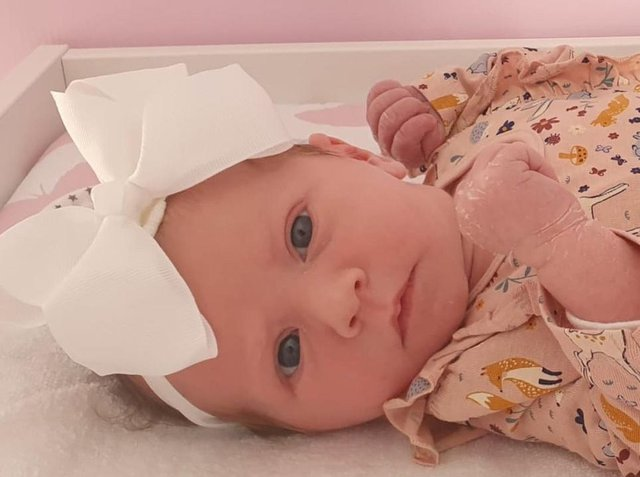 Little 'miracle'. Maddison Esme Phillips was born on January 1.