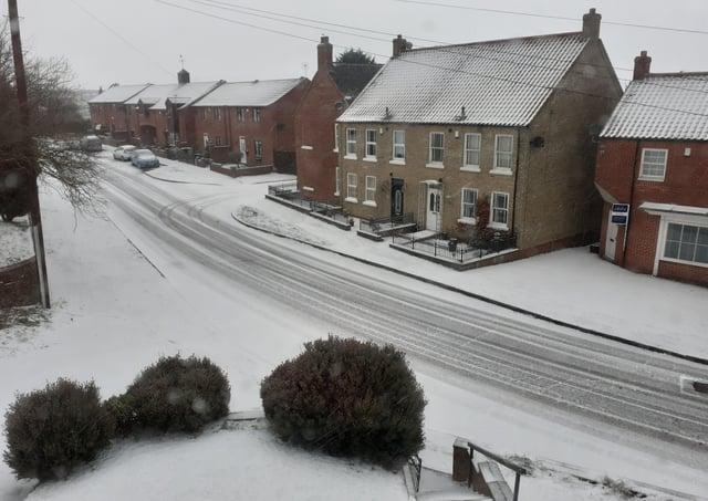 Snow at Binbrook