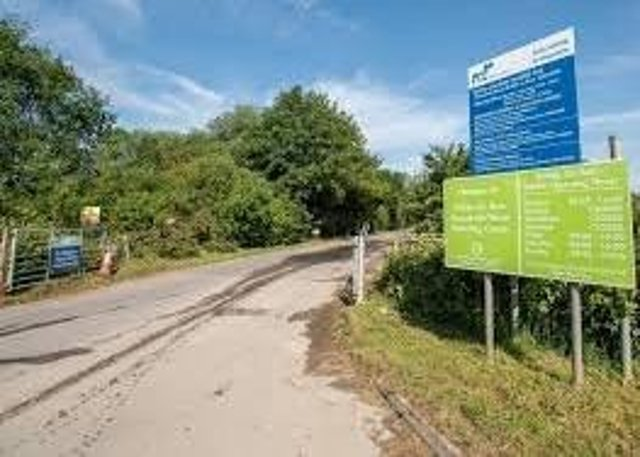 End in sight: The entrance to the  Kirkby on Bain recycling centre