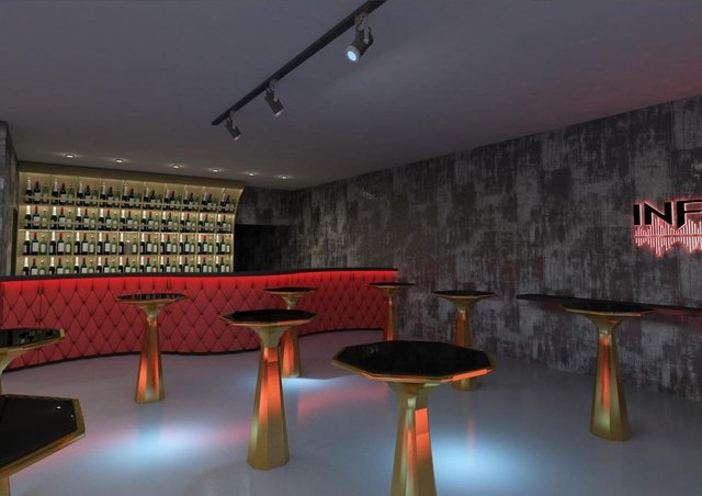 The proposed look of Inferno Nightclub.